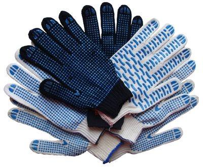 Перчатки трикотажные с ПВХ покрытием